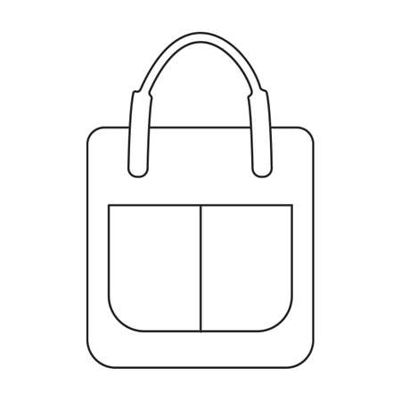 Bag vector icon.Outline vector icon isolated on white background bag.