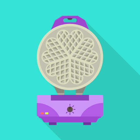 Vector illustration of machine and waffle icon. Web element of machine and grill stock vector illustration.
