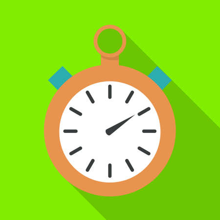 Isolated object of stopwatch and clock symbol. Graphic of stopwatch and circle vector icon for stock.