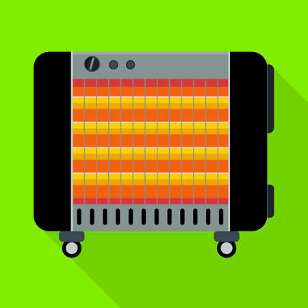 Vector illustration of heater and device symbol. Graphic of heater and oven vector icon for stock.