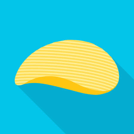 Vector illustration of chip and food. Graphic of chip and crunchy stock symbol for web. Illustration