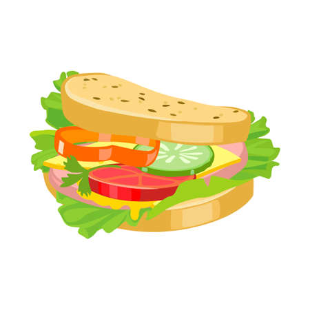 Vector illustration of burger and food symbol. Graphic of burger and bread vector icon for stock.
