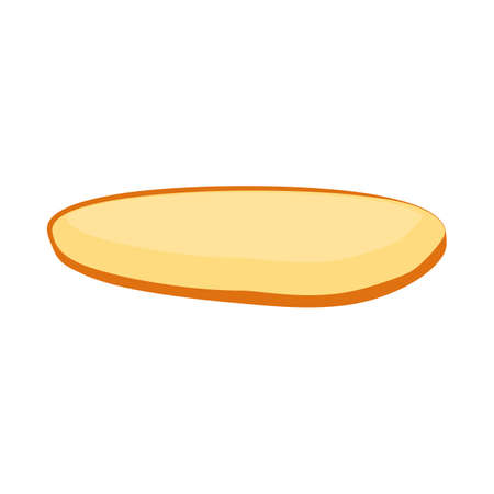Vector illustration of bun and part icon. Web element of bun and bread stock symbol for web. Illustration