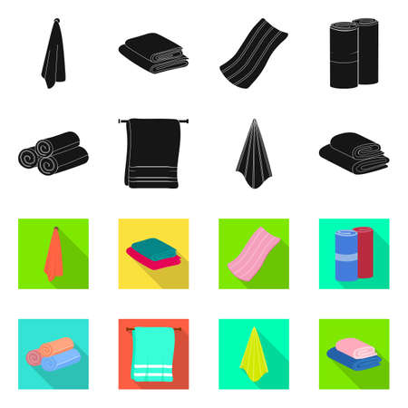 Isolated object of soft and clean. Collection of soft and household vector icon for stock. Illustration