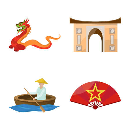Vector illustration of travel and country icon. Collection of travel and culture stock symbol for web.