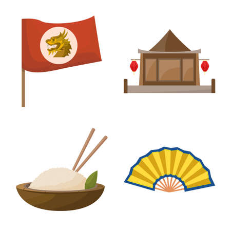 Vector design of travel and country sign. Collection of travel and culture stock symbol for web.