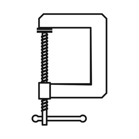 Vector illustration of clamp and screw. Web element of clamp and vise stock vector illustration.