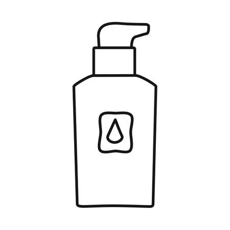 Vector illustration of bottle and container icon. Web element of bottle and aerosol vector icon for stock. Illustration