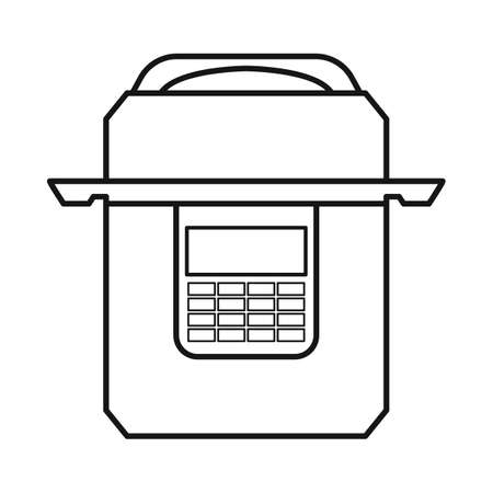 Vector illustration of multicooker and cooker sign. Web element of multicooker and appliance stock symbol for web.