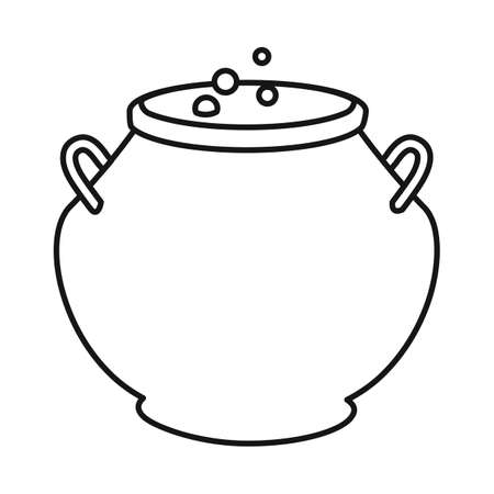 Vector design of cauldron and potion sign. Web element of cauldron and boiler stock symbol for web.