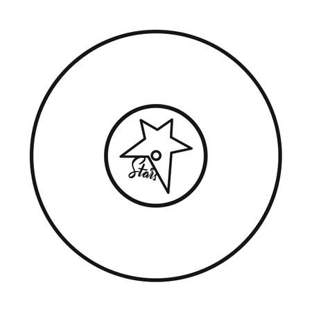 Isolated object of disk and plate. Graphic of disk and soundtrack vector icon for stock.
