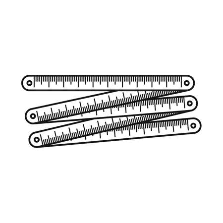 Isolated object of ruler and measure icon. Graphic of ruler and instrument stock vector illustration.