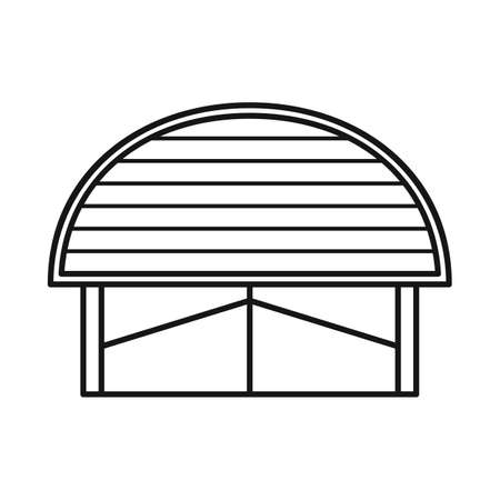 Isolated object of warehouse and awning. Web element of warehouse and storage stock symbol for web.