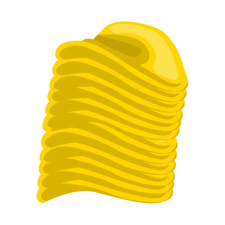 Vector illustration of chip and stack. Web element of chip and crunchy vector icon for stock. Illustration