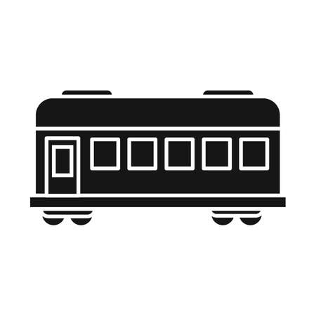 Isolated object of wagon and platform sign. Graphic of wagon and speed vector icon for stock. Illustration