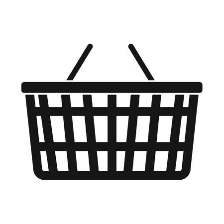 Isolated object of basket and store sign. Web element of basket and plastic stock vector illustration. Illustration
