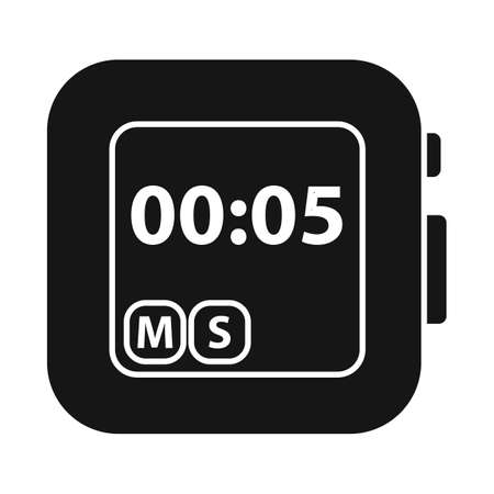 Vector illustration of stopwatch and clock. Web element of stopwatch and tool stock symbol for web.