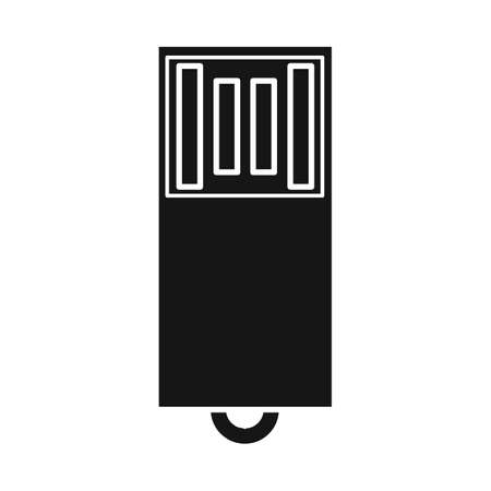 Isolated object of usb and memory symbol. Web element of usb and device stock vector illustration.