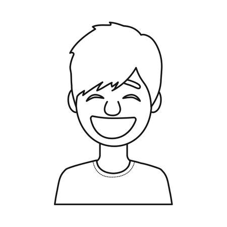 Vector design of guy and laugh symbol. Set of guy and emotion stock vector illustration. Illustration