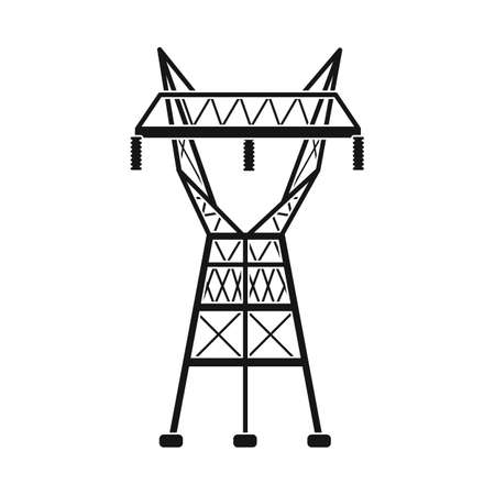 Isolated object of electrical and station icon. Graphic of electrical and transmit stock vector illustration.