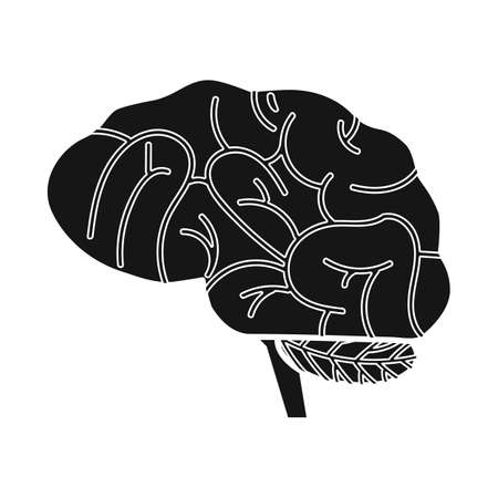 Vector design of brain and human icon. Web element of brain and idea stock symbol for web. Illustration