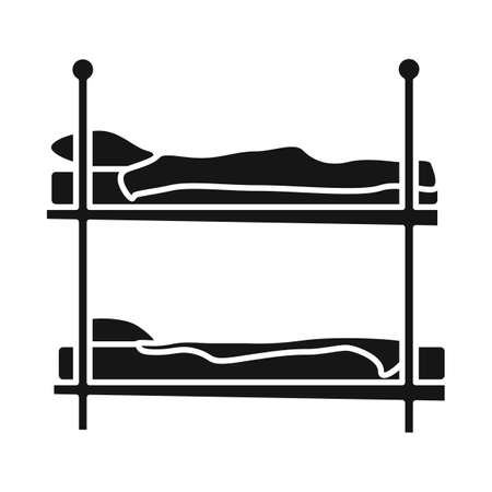 Vector design of bunkbed and bed icon. Web element of bunkbed and bunk vector icon for stock.