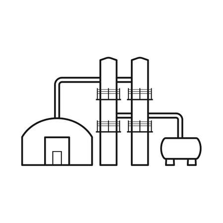 Vector design of plant and economy. Set of plant and machinery stock vector illustration. Illustration