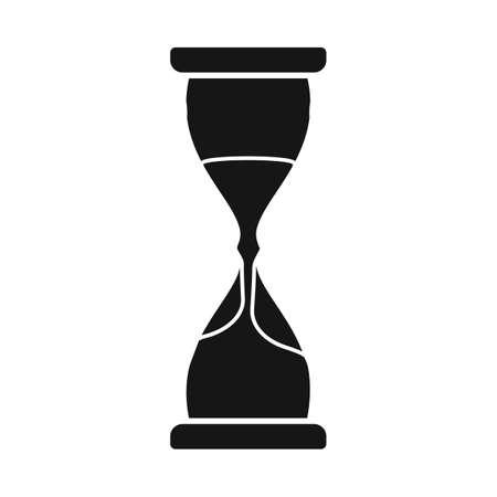 Vector design of sandglass and clock icon. Graphic of sandglass and countdown stock vector illustration. Illustration