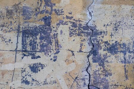 Old wall peeling paint cement background texture