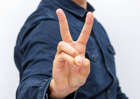 hand symbol means victory or peace