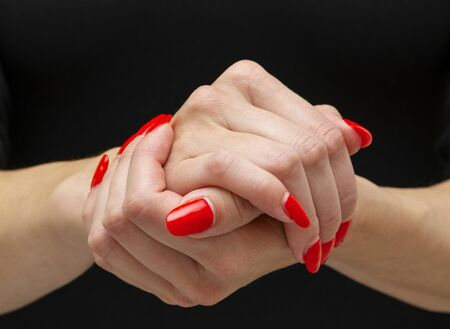 combination of folded palms means together or support in dialogue