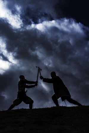 Vikings: Fighting Vikings Stock Photo