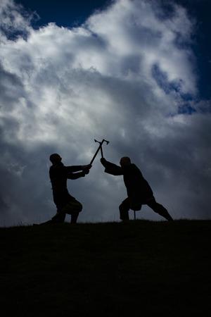 Vikings: Fighting vikings. Shot in Denmark