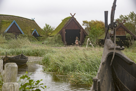 The Viking village in Denmark