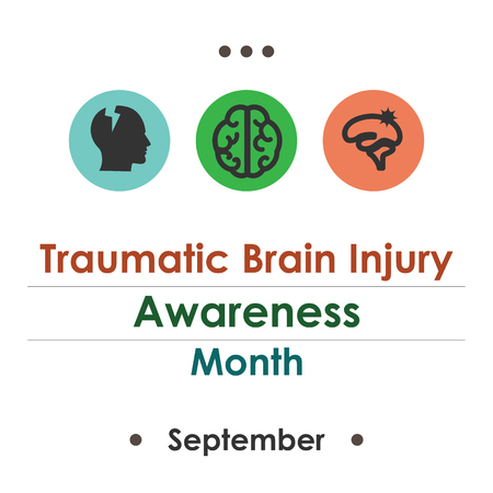 Vector illustration for National Traumatic Brain Injury Awareness Month.