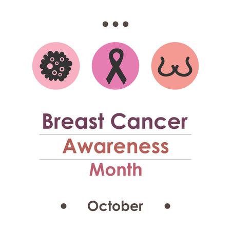Vector illustration for  Breast cancer awareness month.