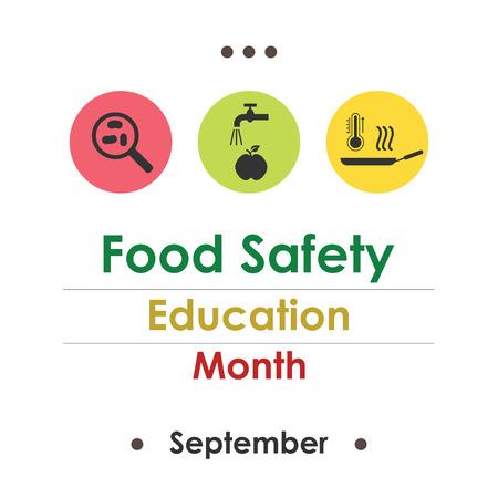 Vector illustration for  National Food Safety Education Month. Illustration