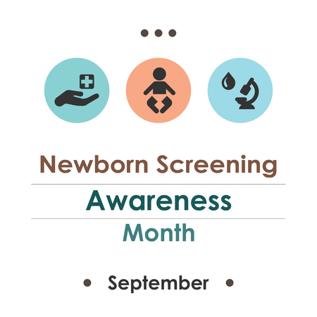 Vector illustration for  Newborn Screening Awareness Month.