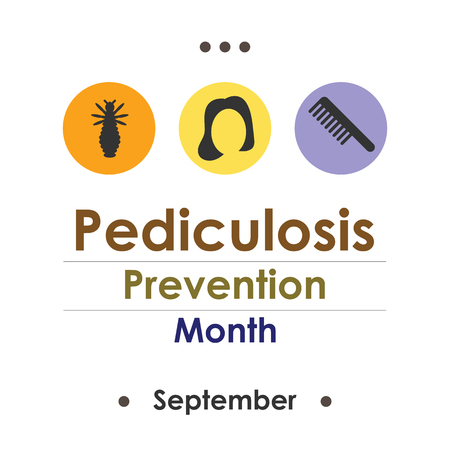 Vector illustration for  National Pediculosis Prevention Month or Head Lice Prevention Month. Illustration