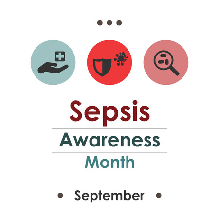 infected: Vector illustration for  Sepsis Awareness Month.