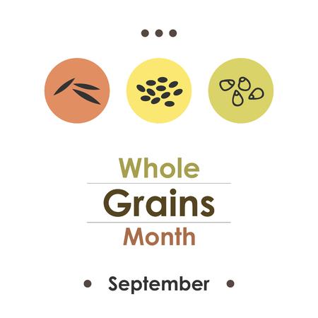Vector illustration for  Whole Grains Month. Illustration
