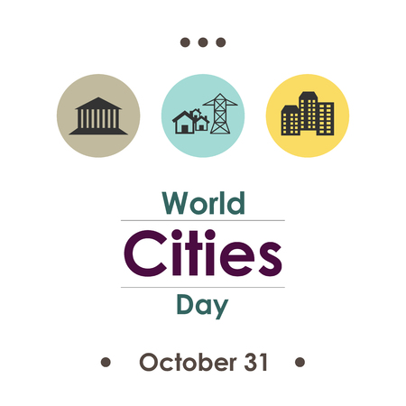 vector illustration for World Cities Day in october