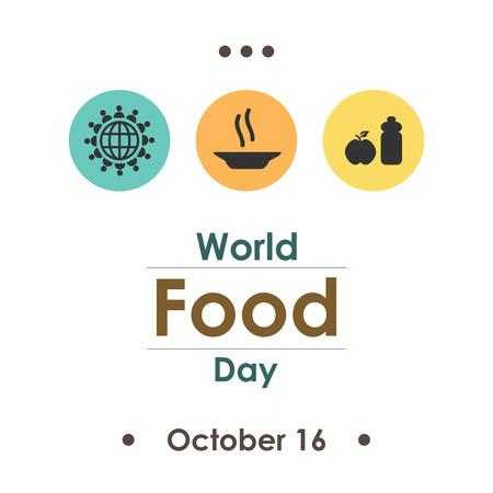 vector illustration for World Food Day in october Illustration
