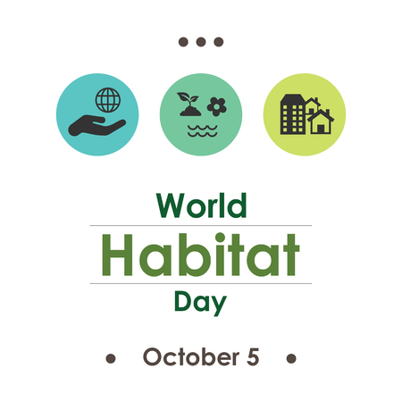 vector illustration for World Habitat Day in october