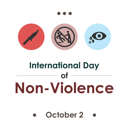 vector illustration for International Day of Non-Violence in october