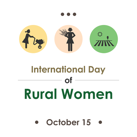 Illustration for International Day of Rural Women   in October