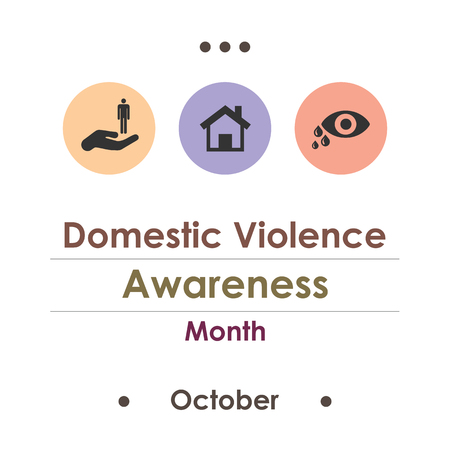 vector illustration for Domestic Violence Awareness Month in october
