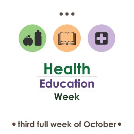 vector illustration for National Health Education Week in october