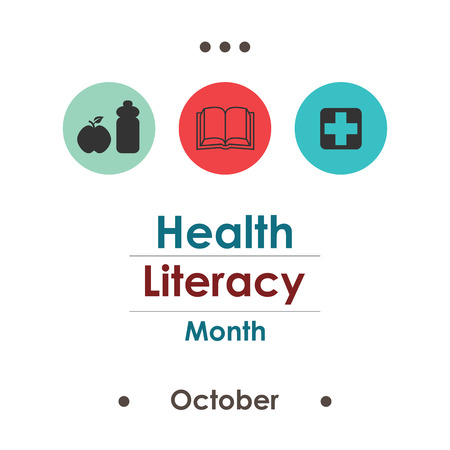 vector illustration for Health Literacy Month in october