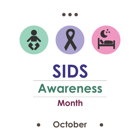 vector illustration for SIDS Awareness Month or Sudden Infant Death Syndrome in remembering in october